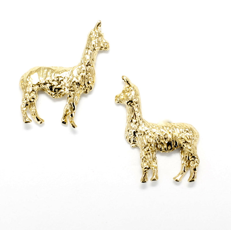 14kt. solid gold  Llama Stud Earrings