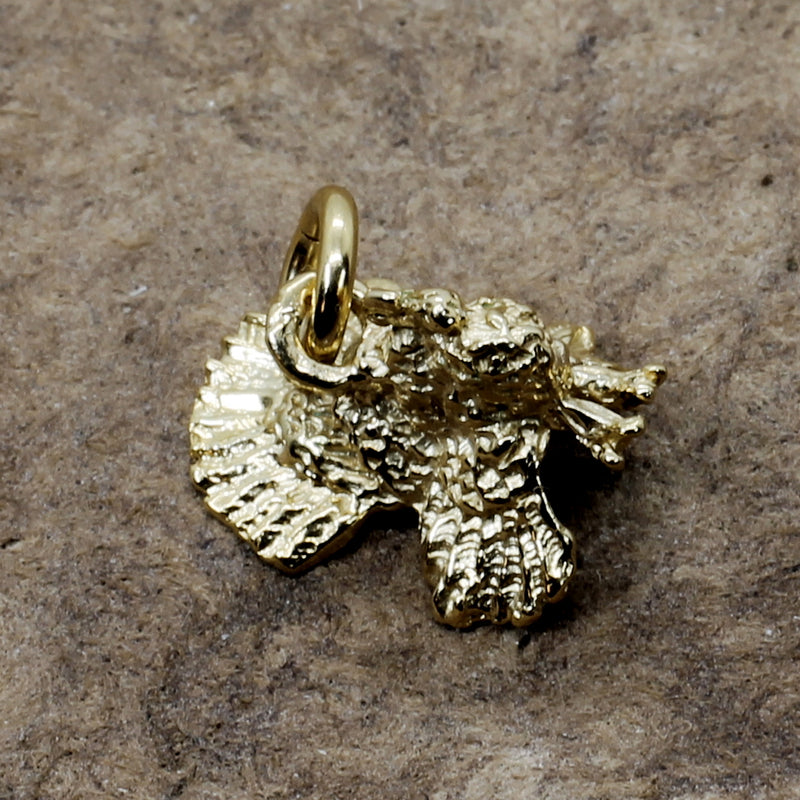 Gold Turkey charm for her charm bracelet with 3-d 14kt Gold Vermeil Turkey