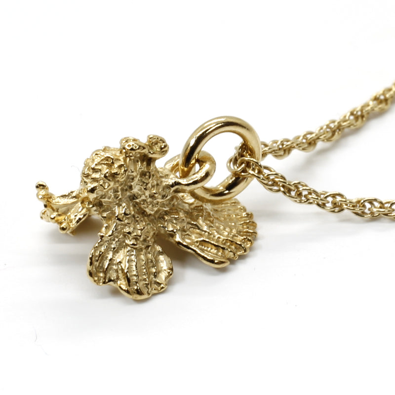 Gold Turkey Necklace with 14kt Gold Vermeil Three Dimensinal Turkey