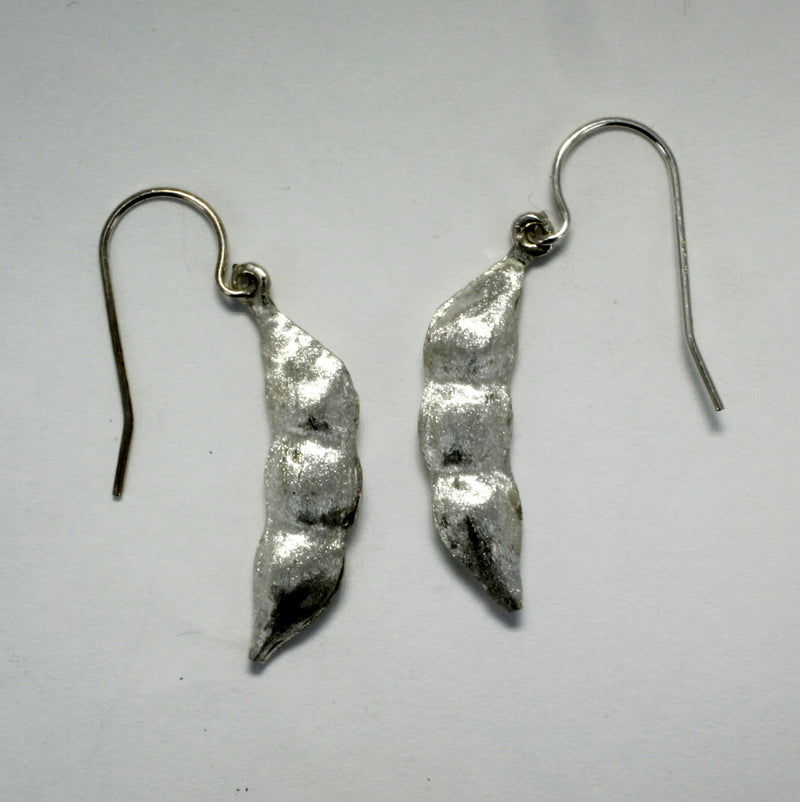 soybean earrings made in 925 Sterling Silver