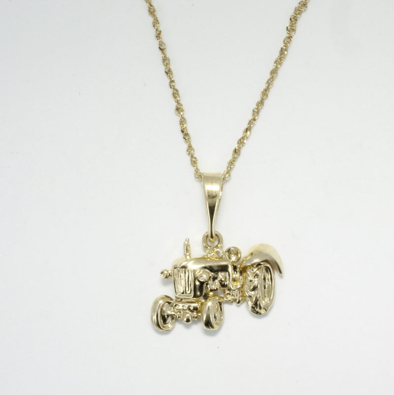 Ford Tractor Necklace in 14kt gold