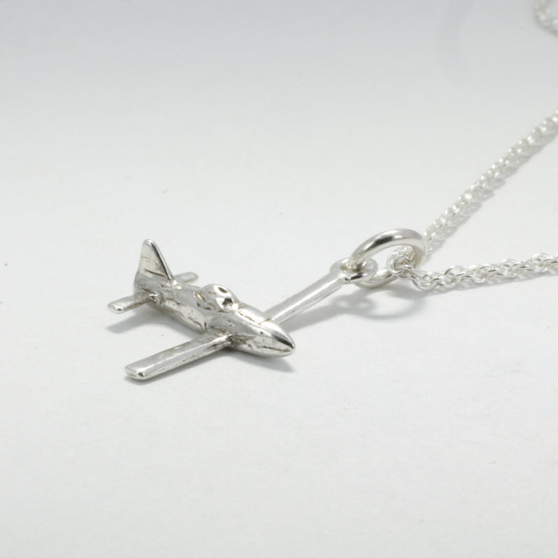 Airplane Jewelry , Airplane Necklace, Air Tractor Necklace in Sterling Silver