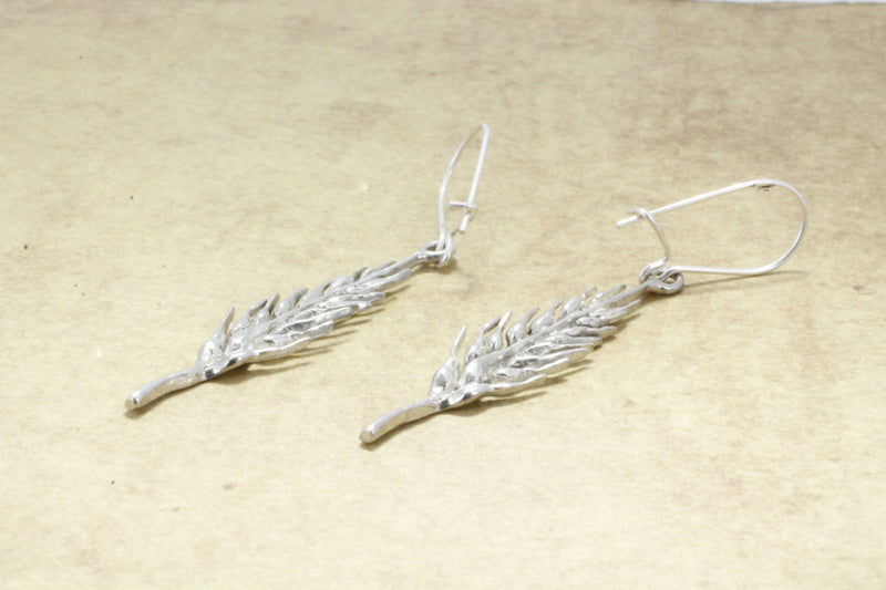 925 Sterling Silver Wheat Head Earrrings