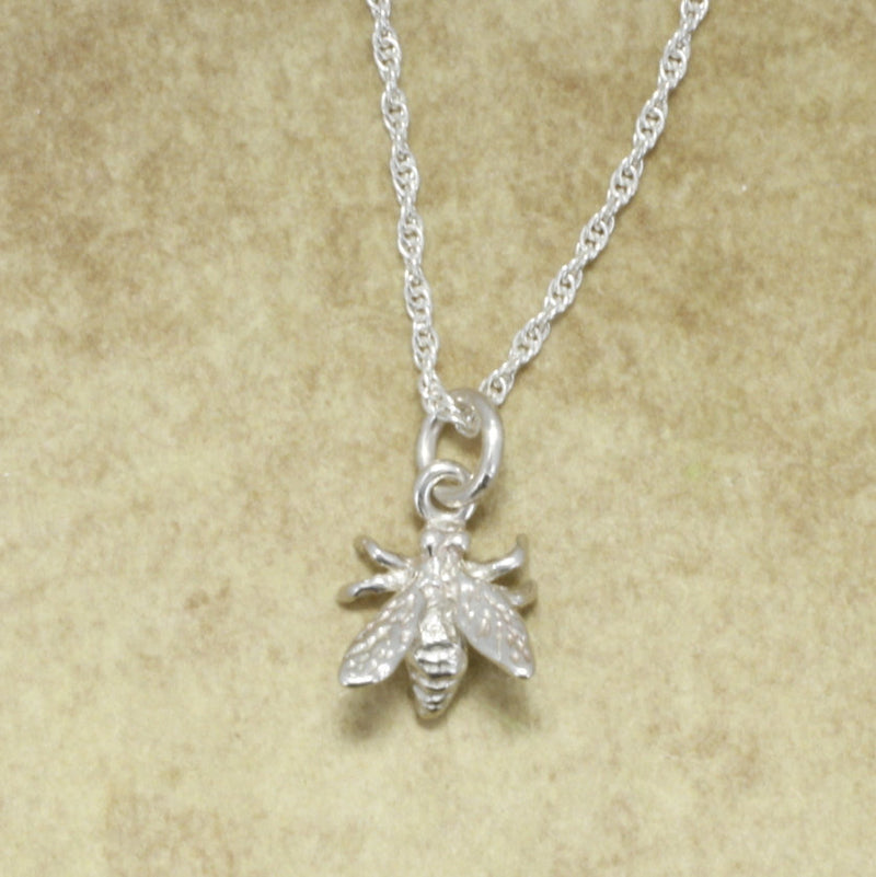 925 Sterling Silver Honey Bee Necklace