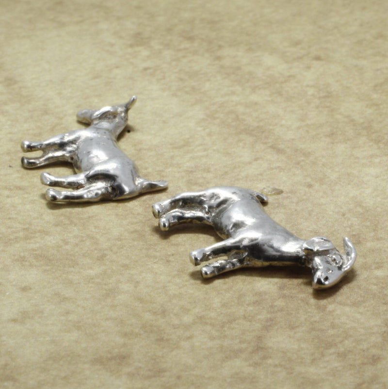 Goat Jewelry 925 Sterling Silver Boer Goat Stud Earrings
