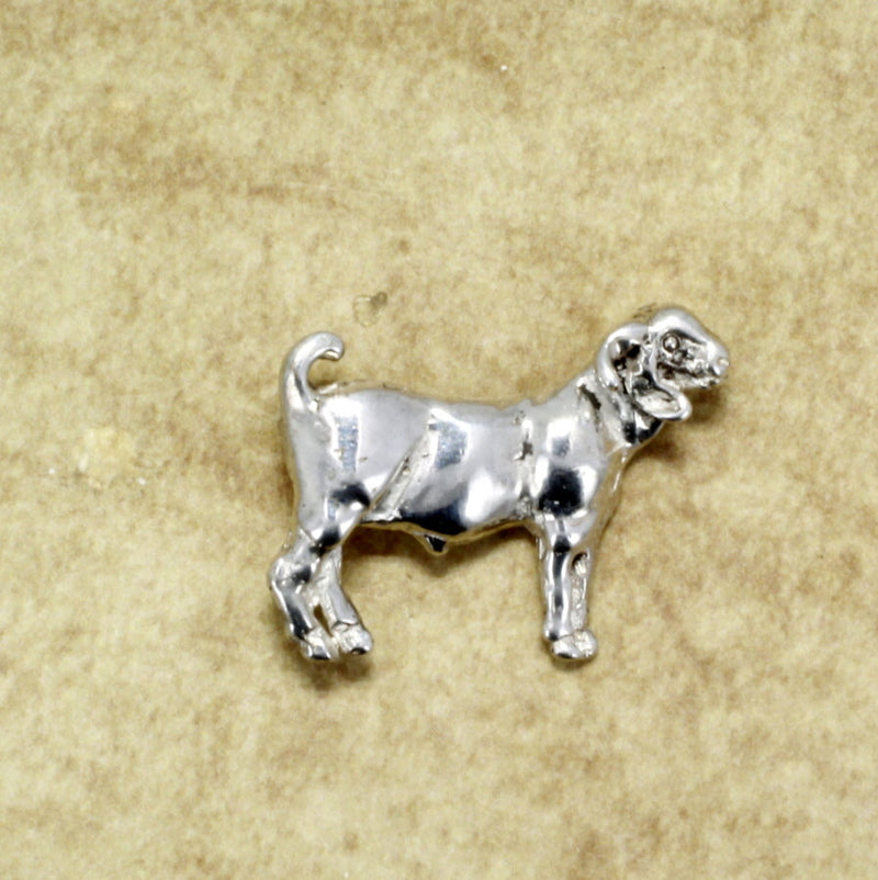Goat Jewelry Design of a Champion Boer Tie Tack or pin made in 925 Sterling Silver