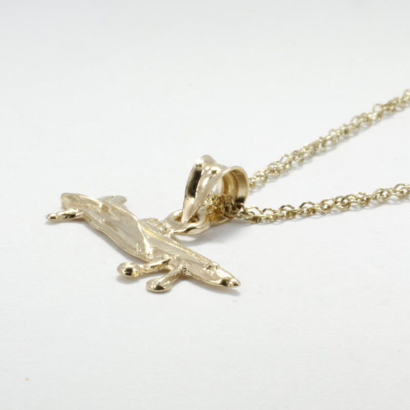 Airplane Necklace, Air Tractor Necklace in 14kt gold