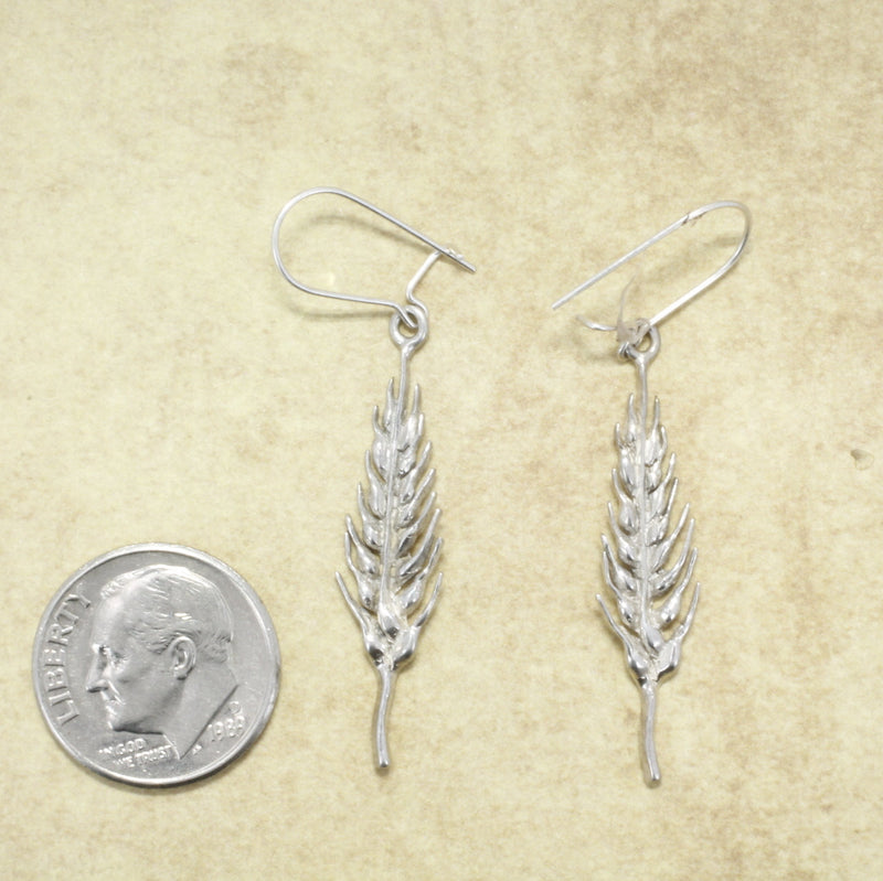 Wheat Jewelry, 925 Sterling Silver Wheat Head Earrrings