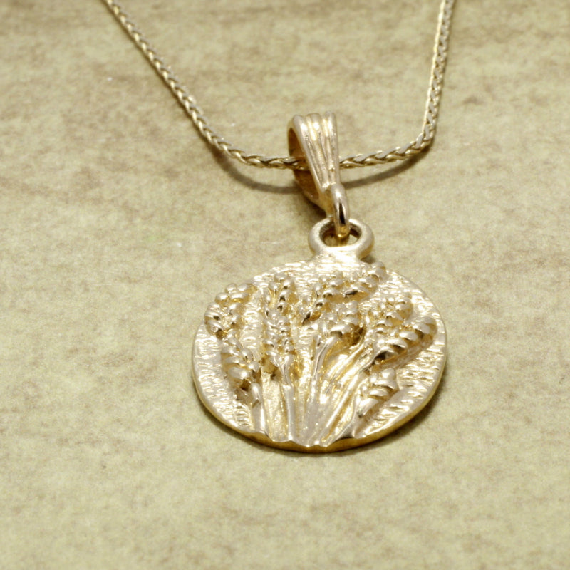 14kt Yellow Gold Wheat Field Necklace