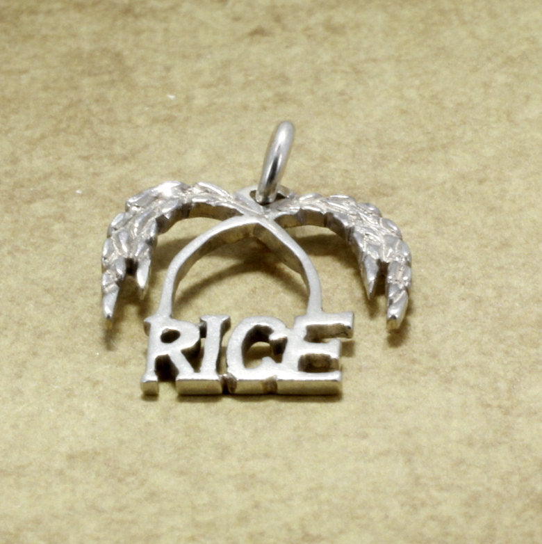 925 Sterling Silver Rice Logo Charm