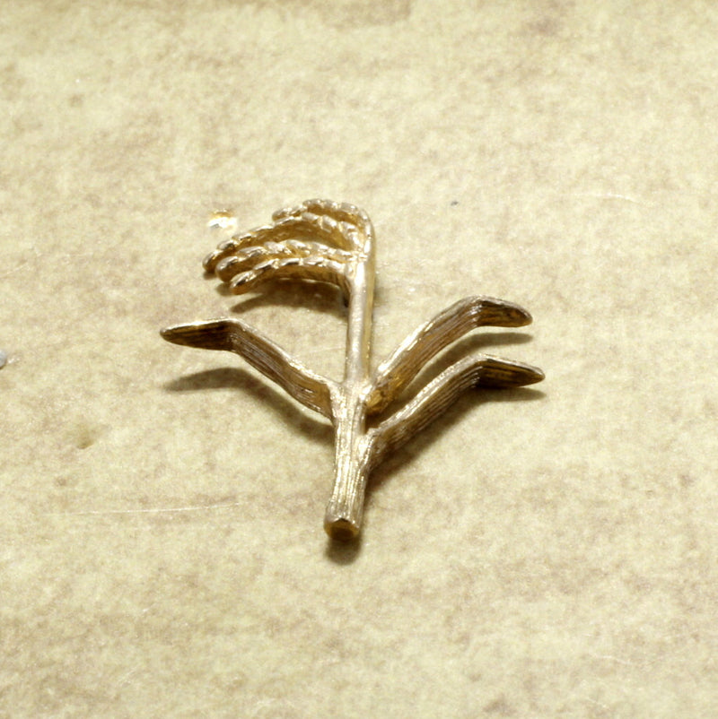 14kt Gold Rice Stalk Brooch tie tack