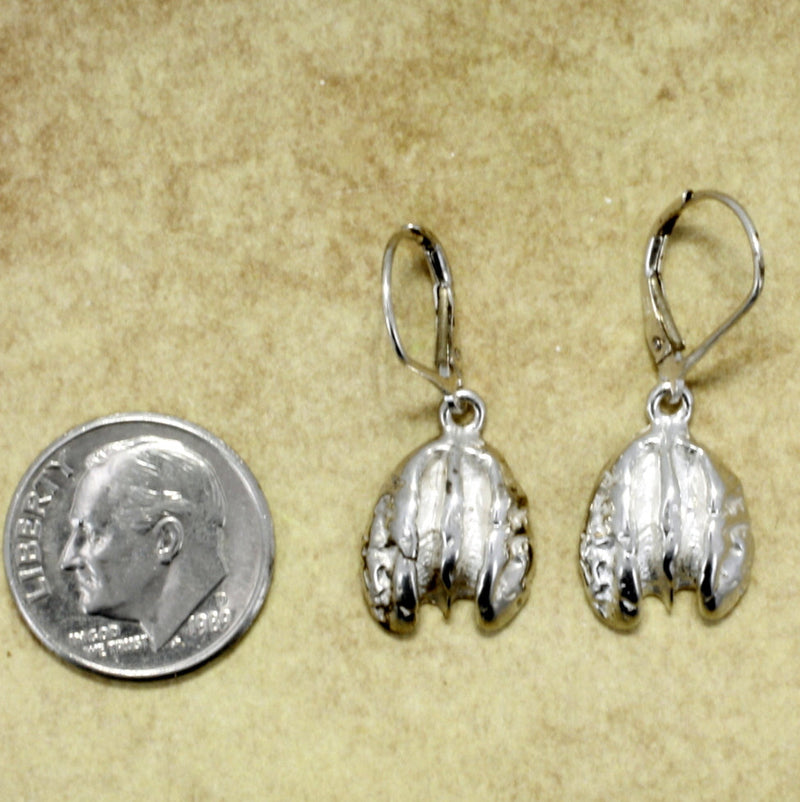 Tiny 925 Sterling Silver Pecan Earrings, pecan tree growers jewelry