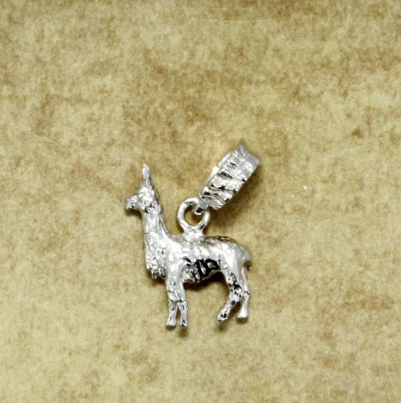 Llama Slide Charm in 925 Sterling Silver