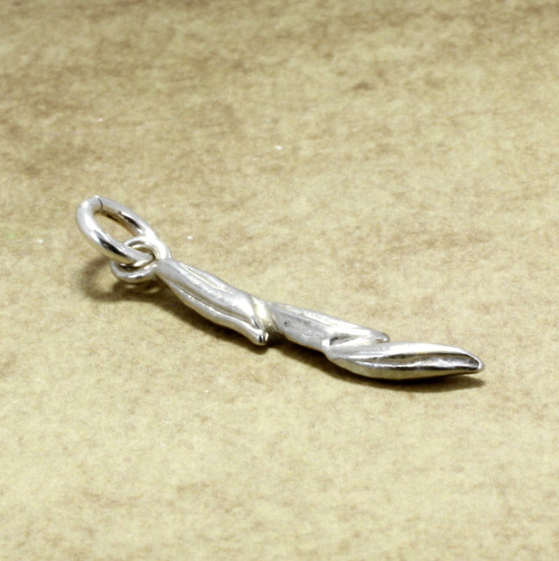 925 Sterling Silver Rice charm