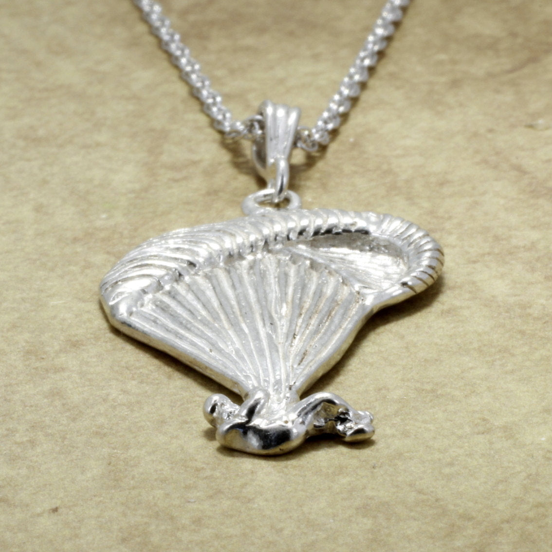 Paraglider Necklace, 925 Sterling Silver Paraglider Necklace with 18