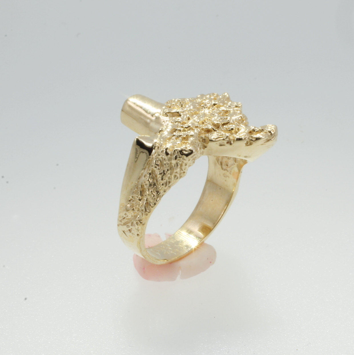 14kt Gold Mans Texas Ring