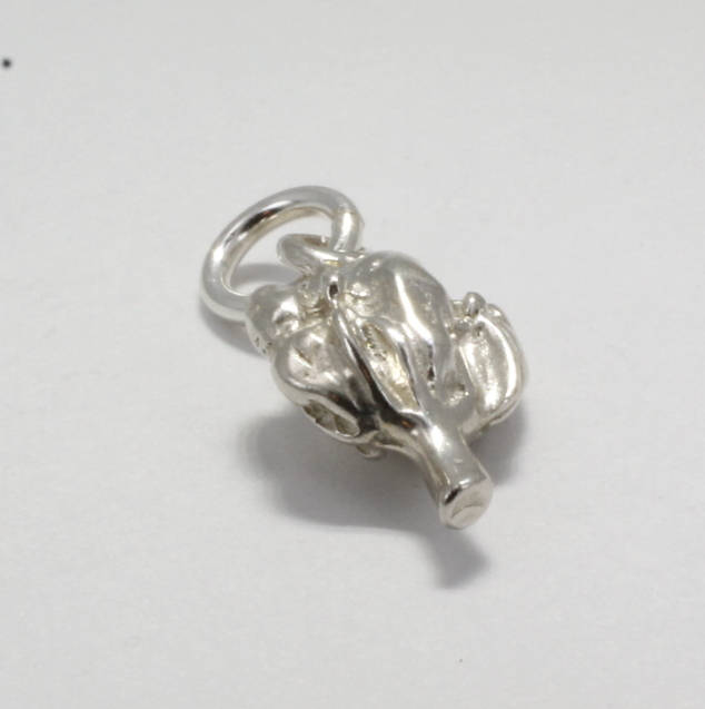 925 Sterling Silver Cotton Boll Charm