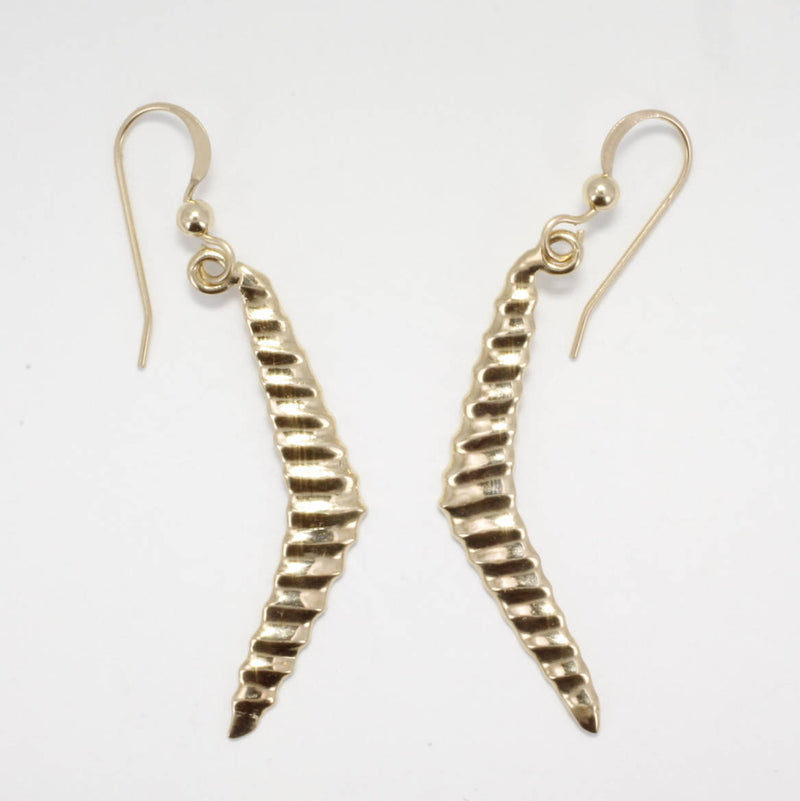 14kt Yellow Gold Hang Glider Earrings