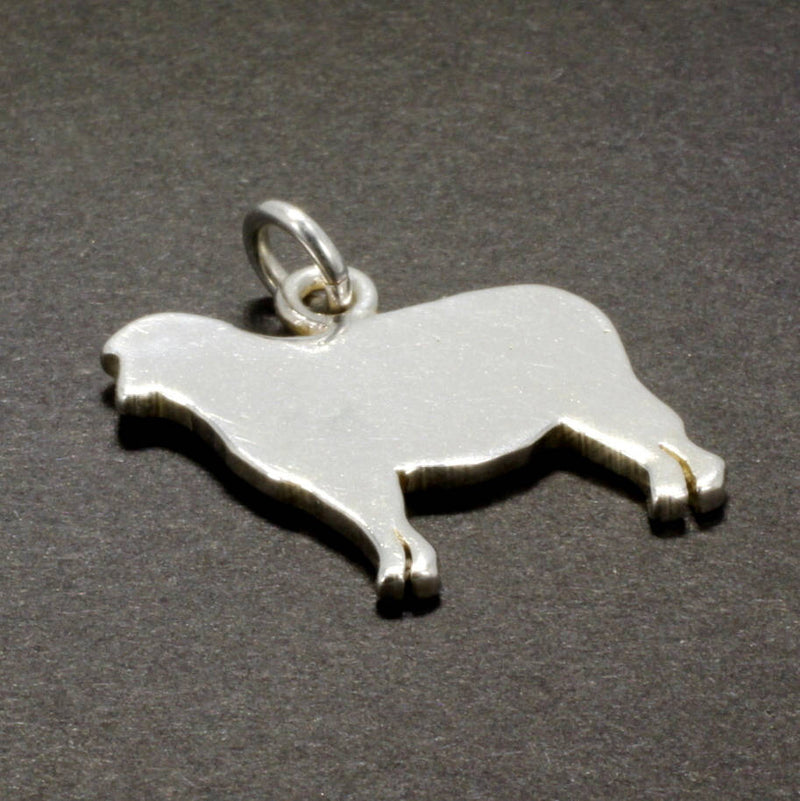 925 Sterling Silver Flat Polished Lamb Silhoutte Charm