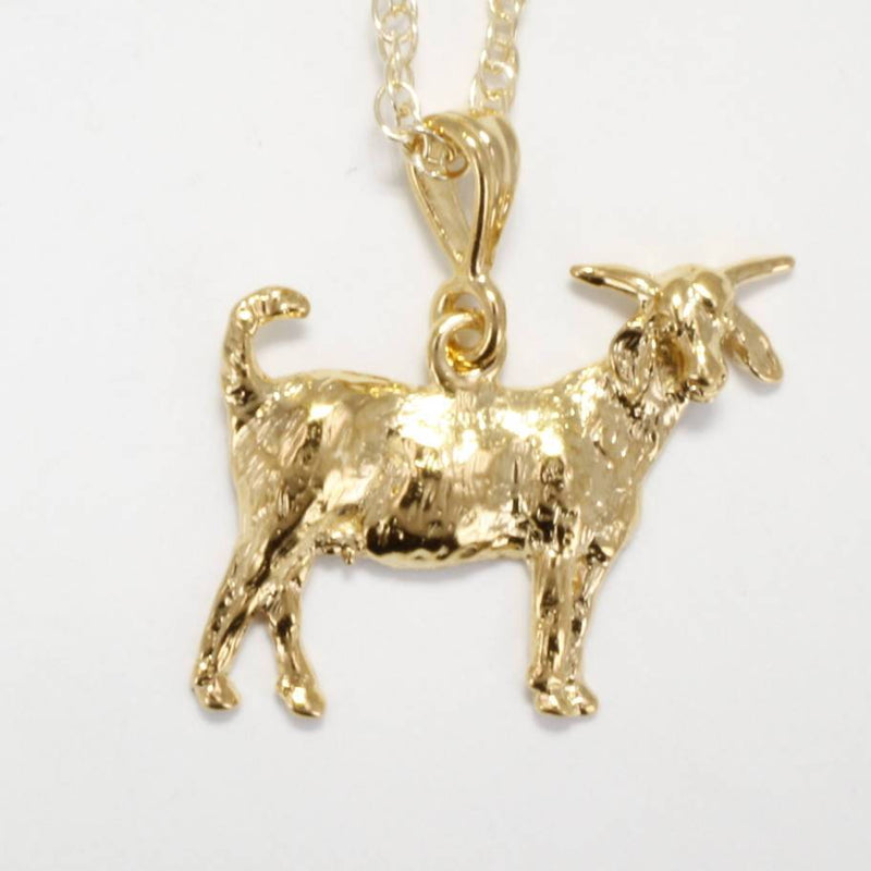 "of14kt Gold Vermeil Large Boer Goat Necklace on 18"" chain"
