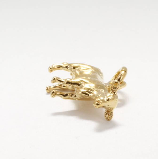 Cattle Jewelry, Heifer Charm, 14kt Gold Vermeil Heifer Charm,Gift for Mom, wife,daughter,Prize Show Heifer for her,Cattle Rancher gift