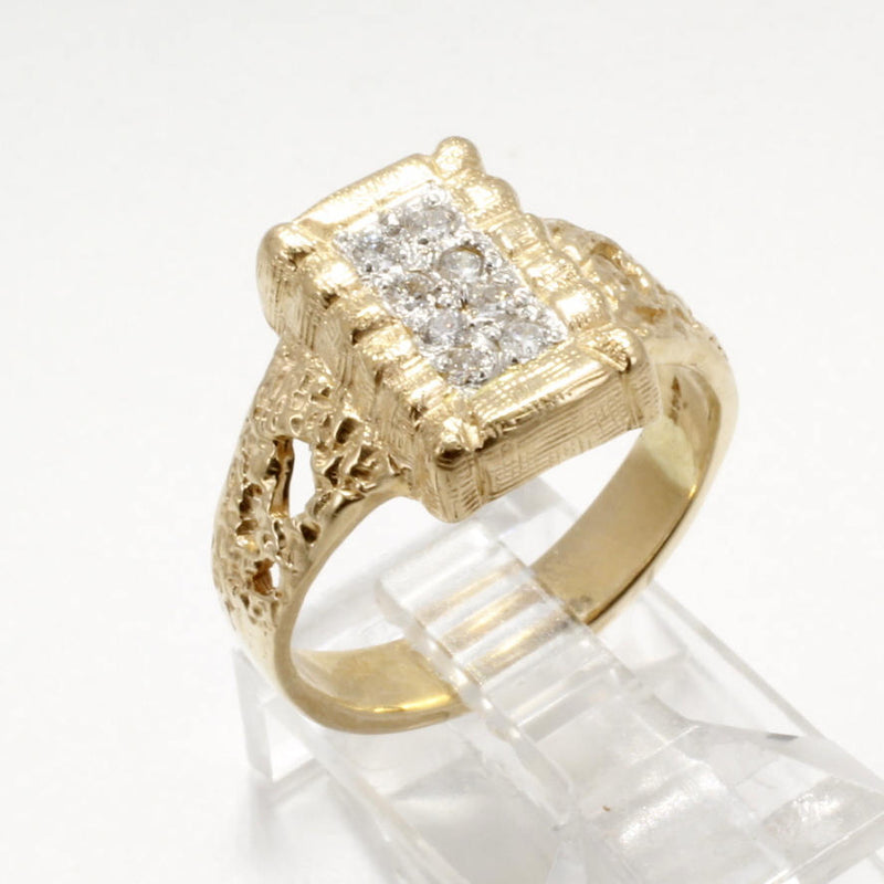 Ladies Diamond Cotton Bale Ring