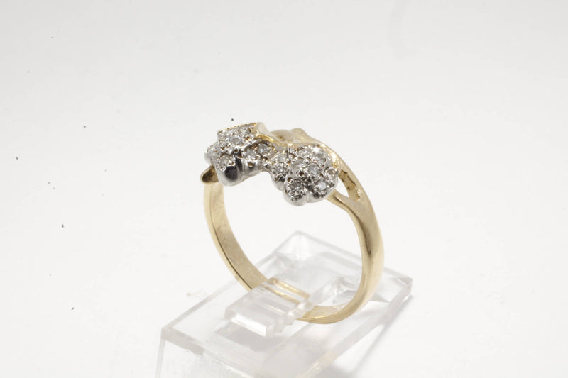 Womans Diamond Cotton Ring