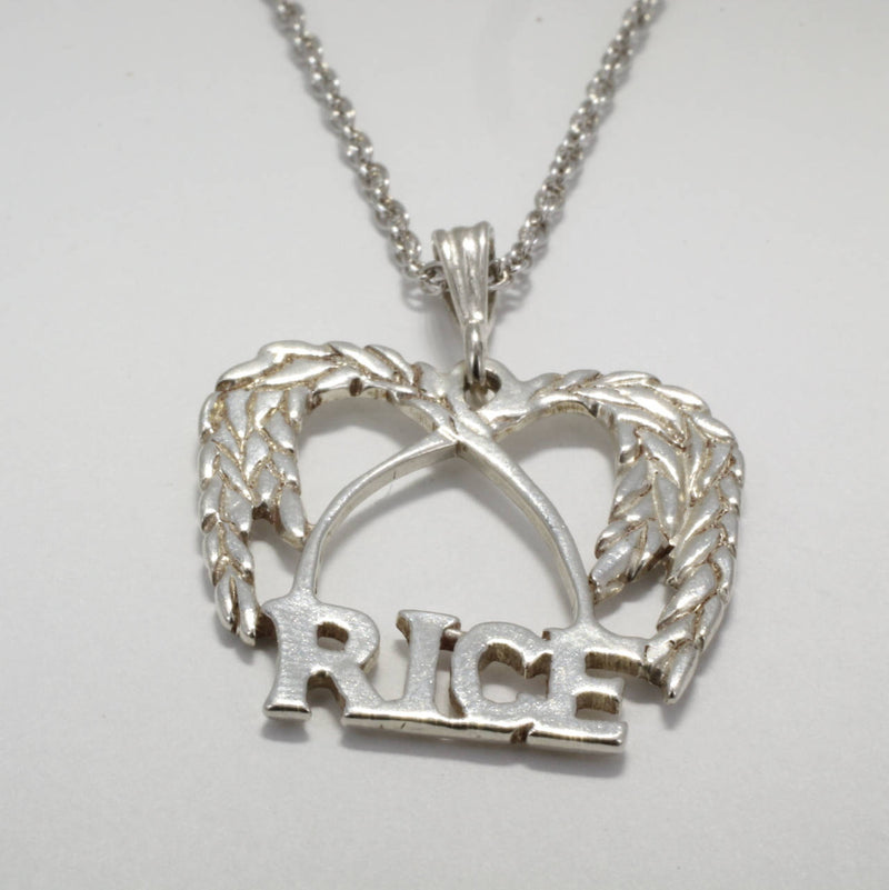 Large Rice Necklace in  925 Sterling Silver