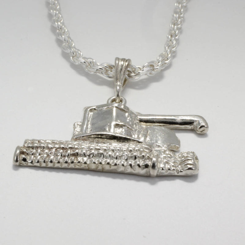 Mans Combine Harvestor Tractor Jewelry Necklace