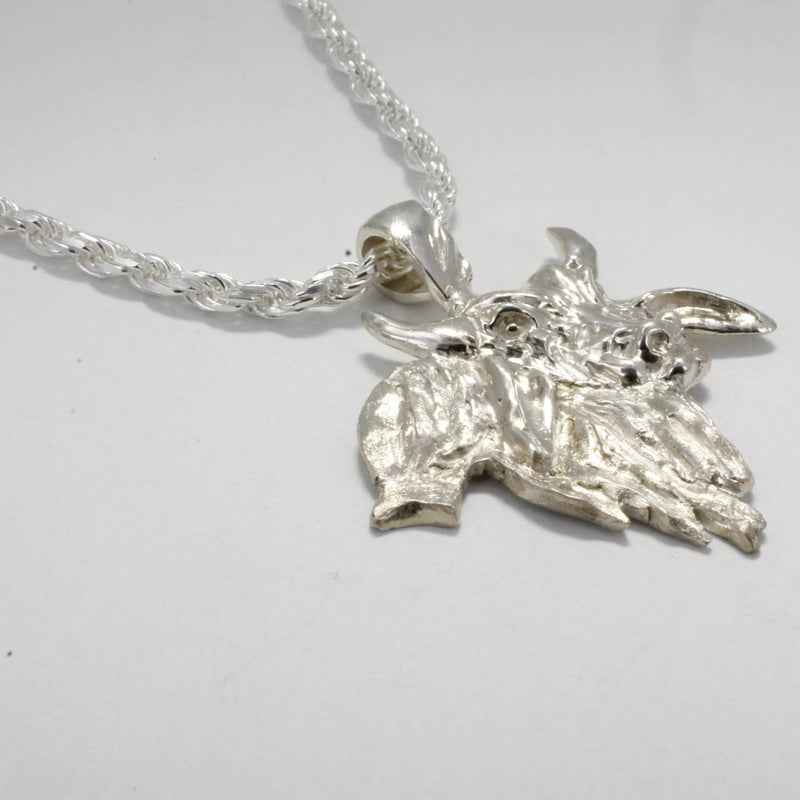 925 Sterling Silver Brahman bull necklace for him by agrijewelry.com