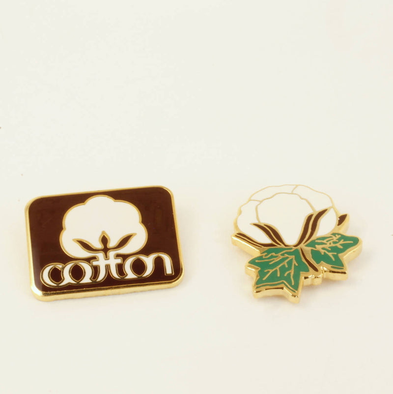 Cotton Inc and Cotton Boll Lapel Pins