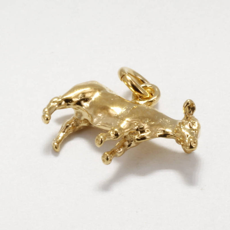 Cattle Jewelry, Heifer Charm, 14kt Gold Vermeil Heifer Charm by agrijewelry.com