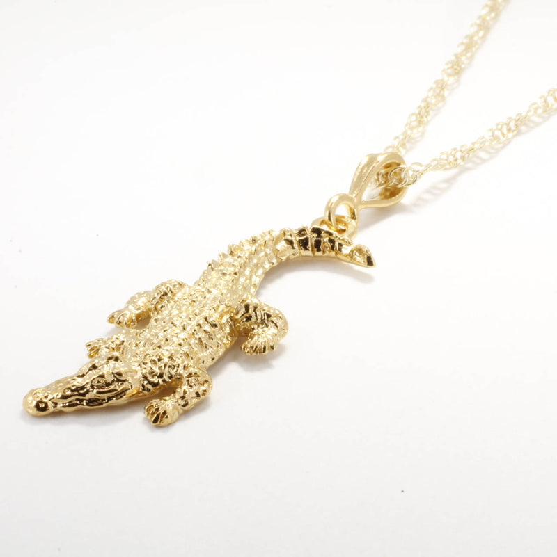 Large Alligator Necklace in 14kt Yellow Gold Vermeil