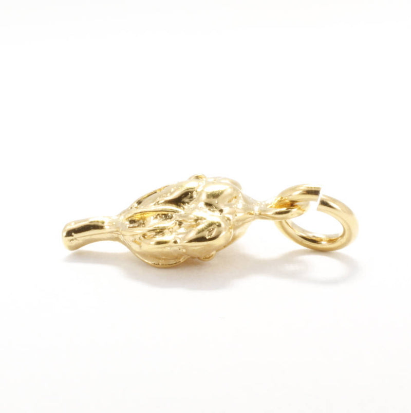 Small 14kt Gold Vermeil Cotton Boll Charm