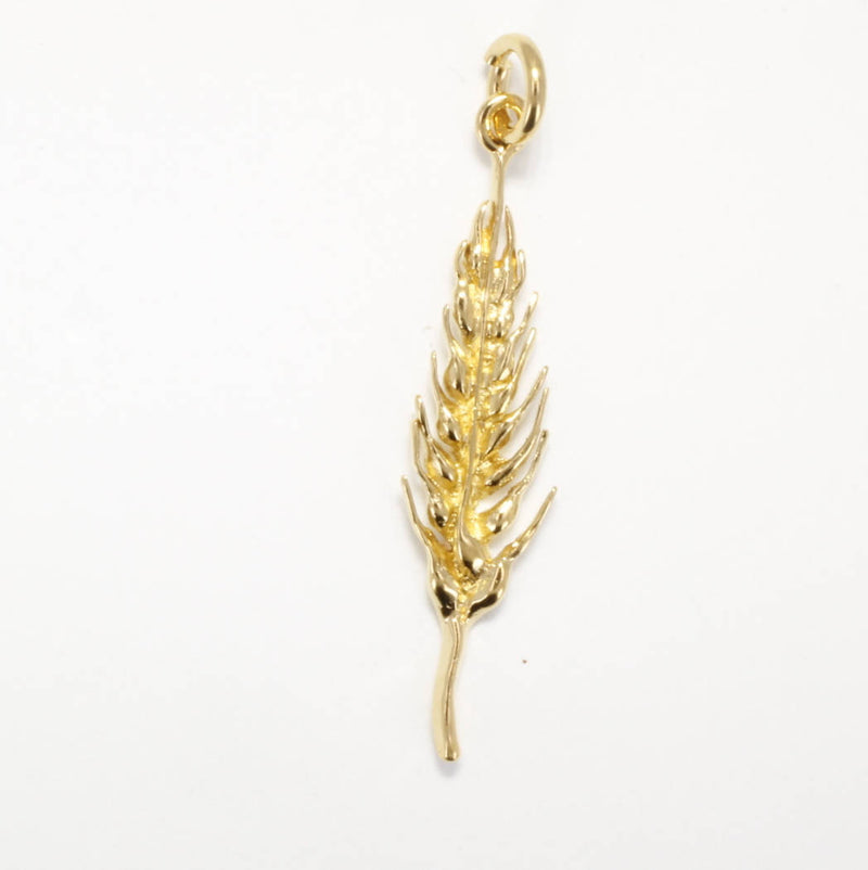 Gold  Wheat Head charm