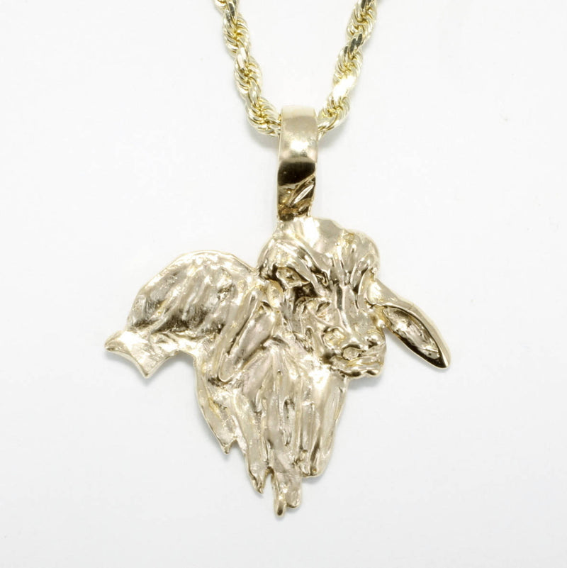 Brahman Bull Without Horns Necklace, 14kt solid Gold Bull Gift for him