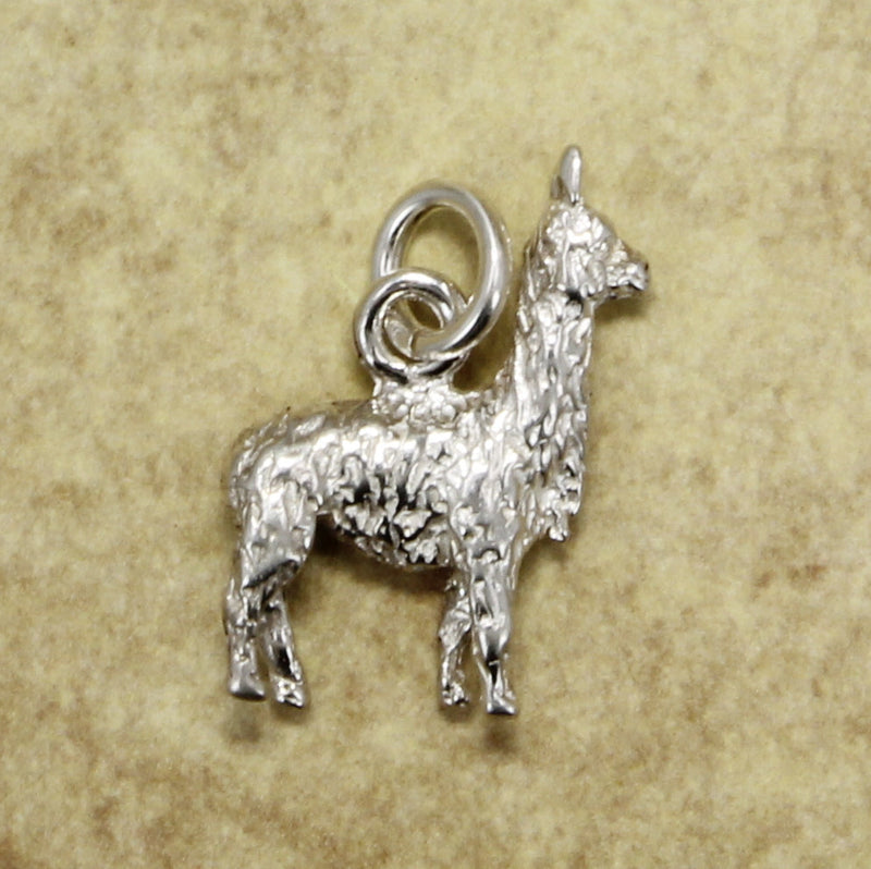 Llama Charm made in 925 Sterling Silver