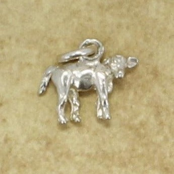 Calf Charm, 925 Sterling Silver Tiny Calf Charm