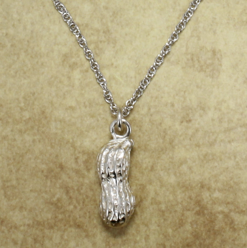 925 Sterling Silver Medium Size Peanut Necklace