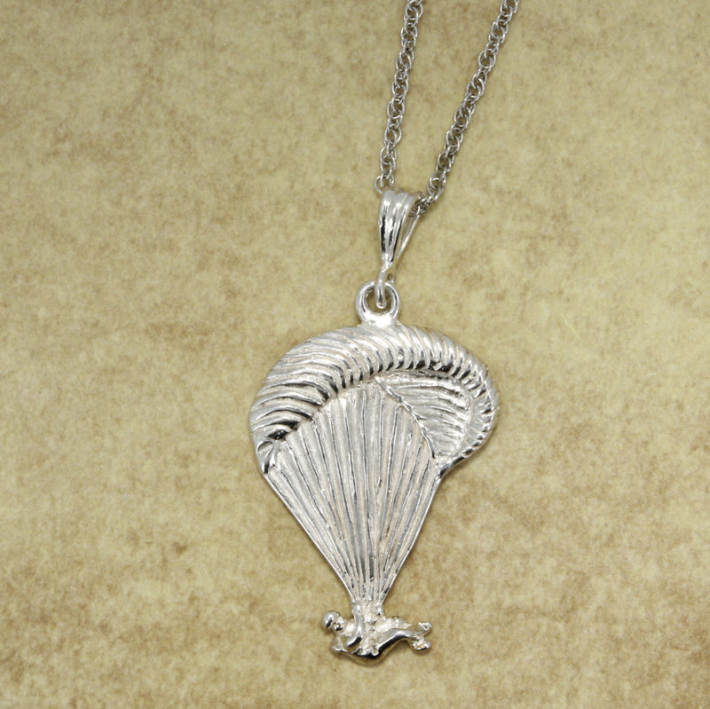 925 Sterling Silver Paraglider Necklace