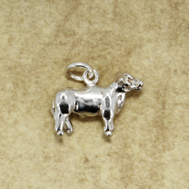 925 sterling silver Show Steer Charm