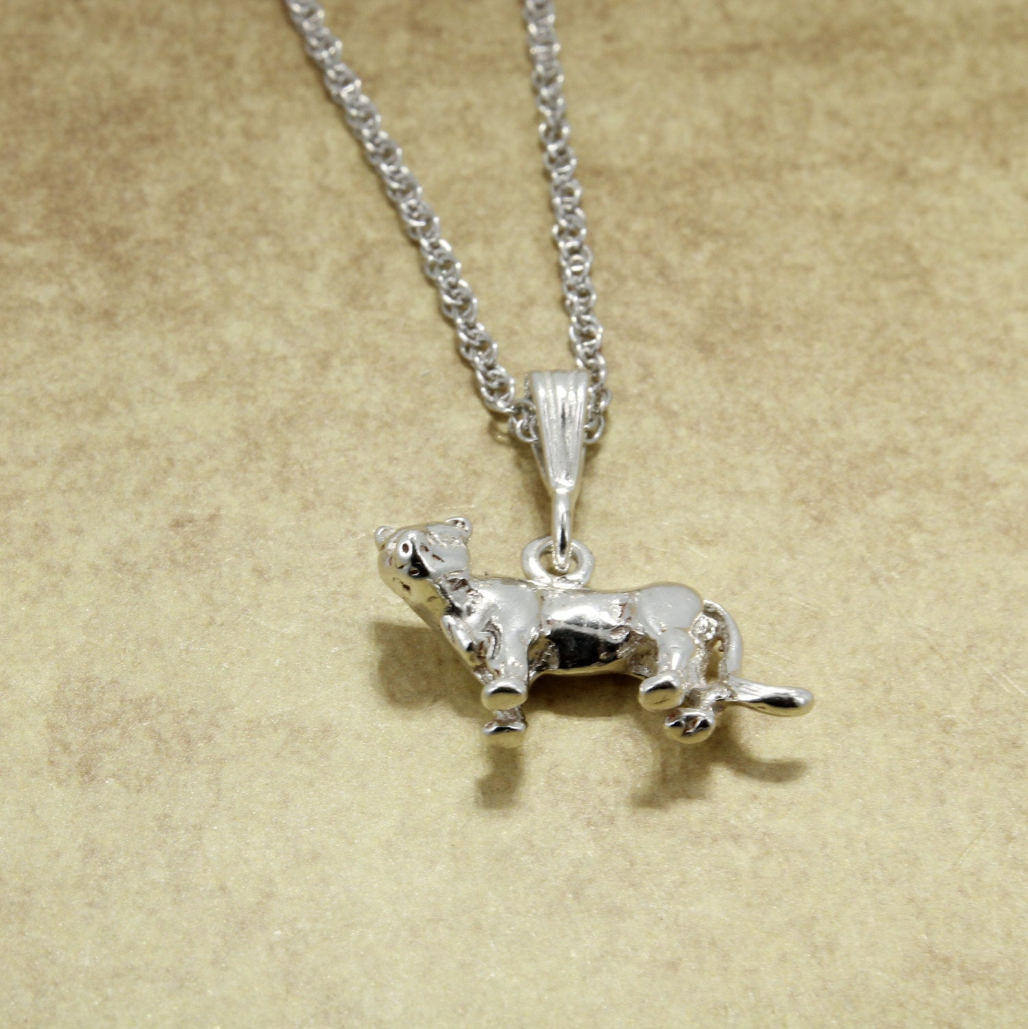 925 Sterling Silver Mountain Lion Necklace