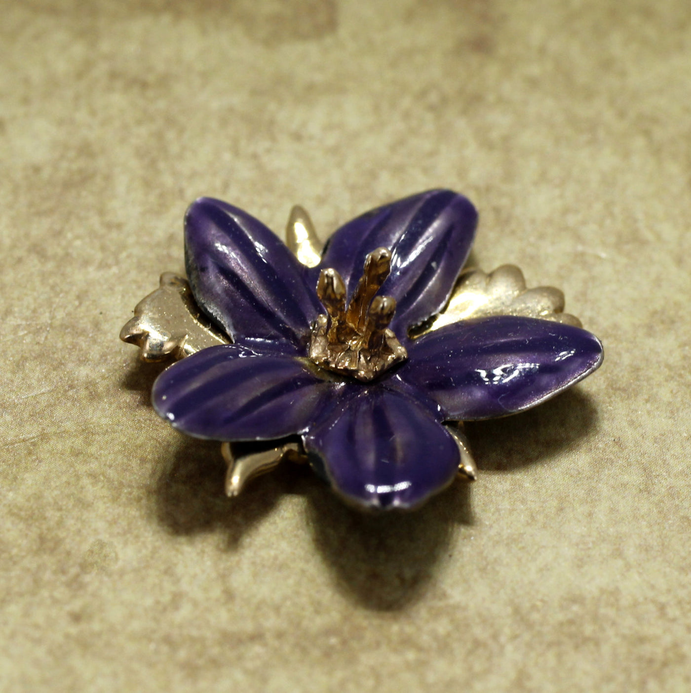 diamond gold and violet product yellow antique pansy brooch attos enamel