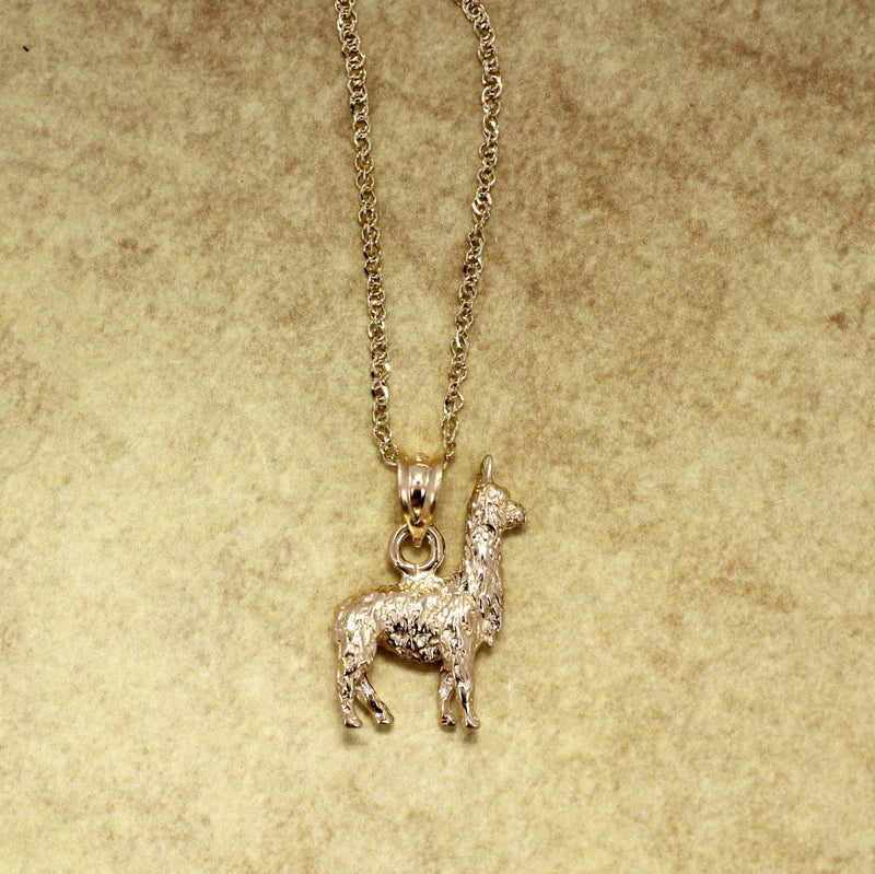 14kt. gold Llama Necklace