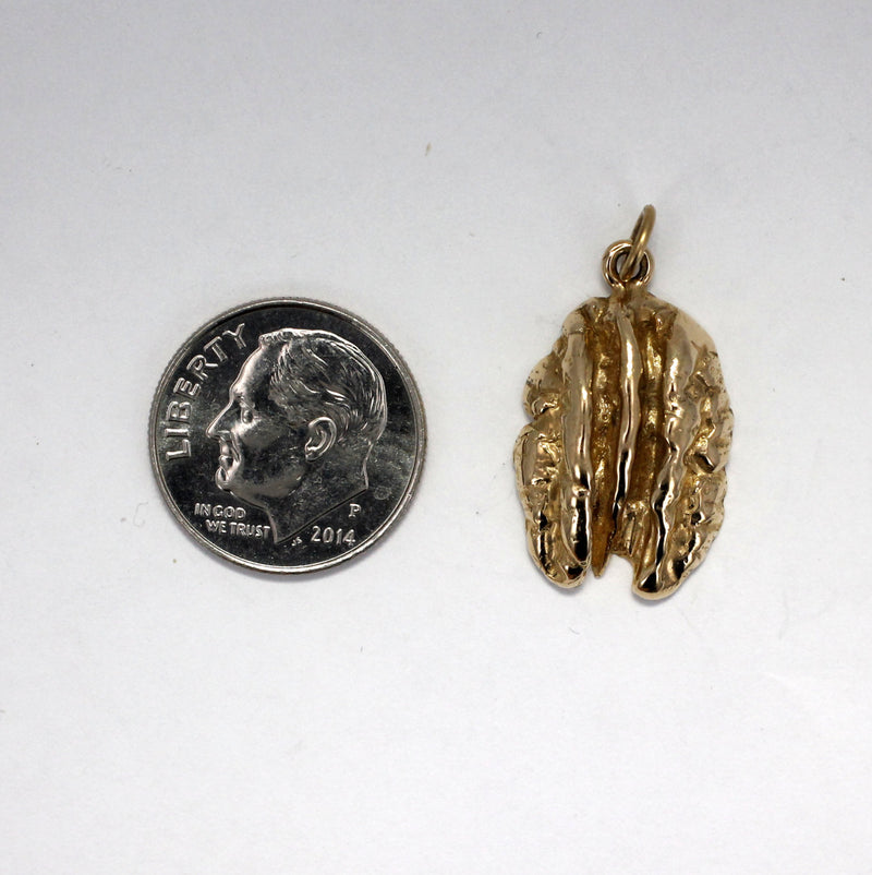 Pecan Jewelry, Small 14kt. gold Pecan Charm