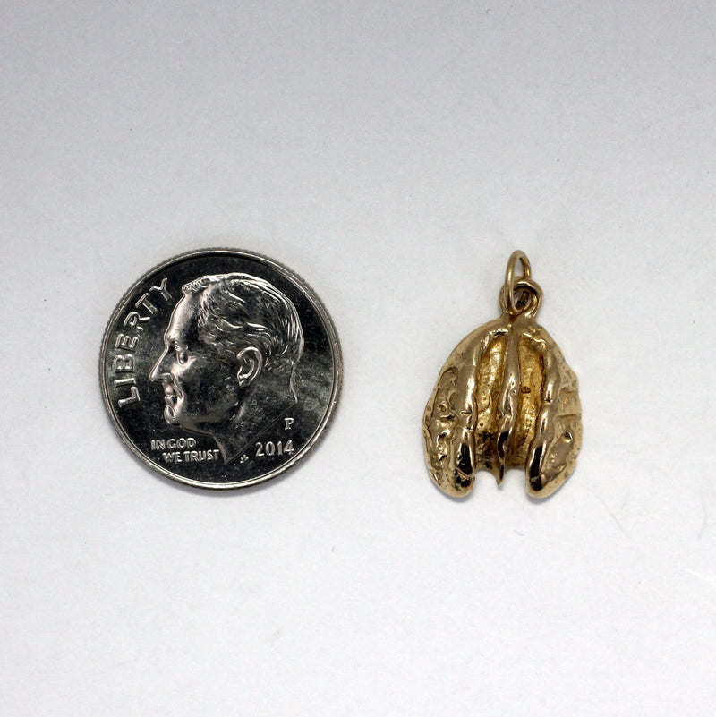 Pecan Jewelry, Tiny 14kt. gold Pecan Charm