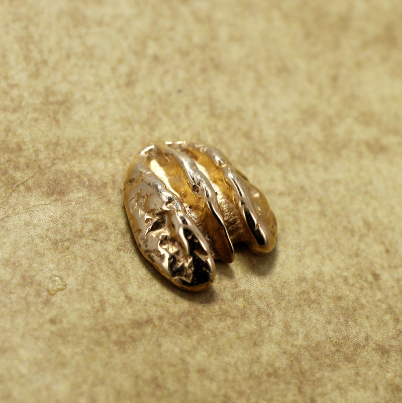 Small Solid 14kt. gold  Pecan Tie Tack or Lapel Pin