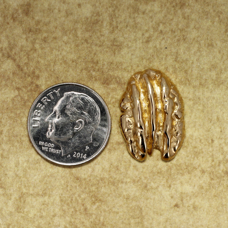 Solid Gold Pecan Tie Tack or Lapel Pin