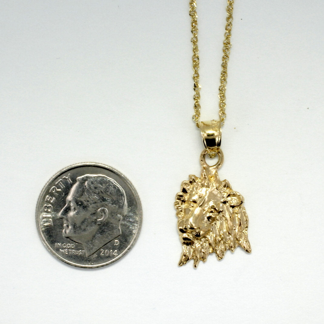Lion jewelry lion necklace 14kt gold lion head pendant on 18 agrijewelry has coton boll jewelry for the cotton farmers wife aloadofball Choice Image