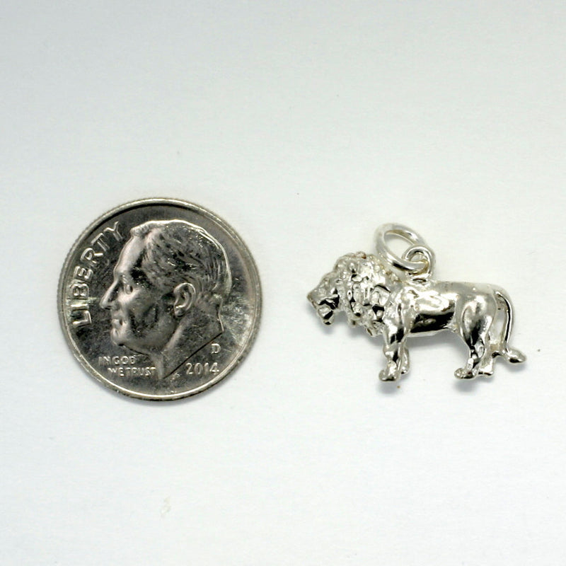 925 Sterling Silver Lion Head Charm, Lion Head Charm, Lion Lover gift for her, africa safari wild lion gift, wild cat lover gift